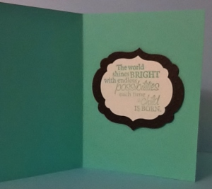 Inside of Baby card
