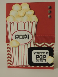 Popcorn card outside